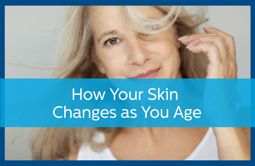 Older woman wondering how your skin changes as you age.